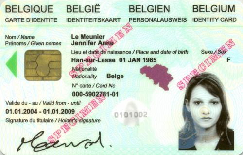 Carte Identite Belgique.Cartes D Identite Eid Paris La Belgique En France